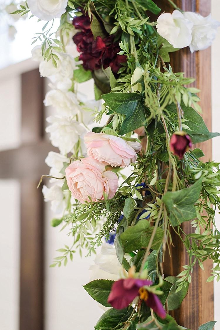 Floral Arch Roses Romantic Twinkling Garden Wedding http://sarahben.com/