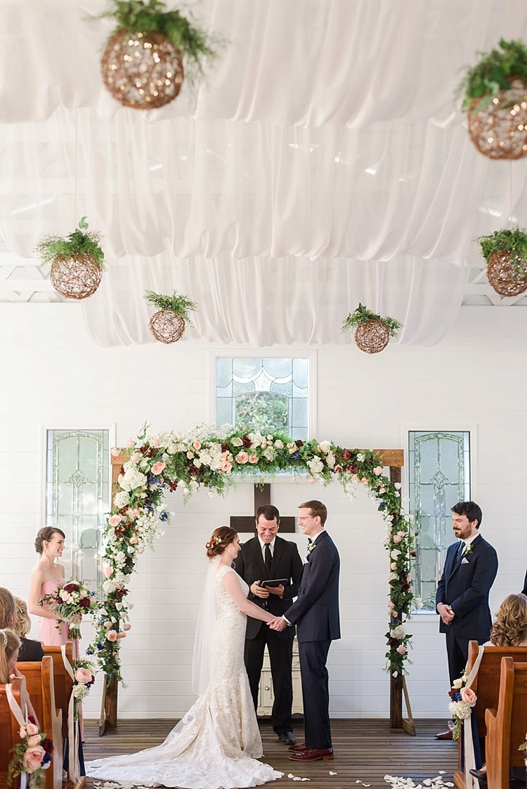 Romantic Twinkling Garden Wedding http://sarahben.com/