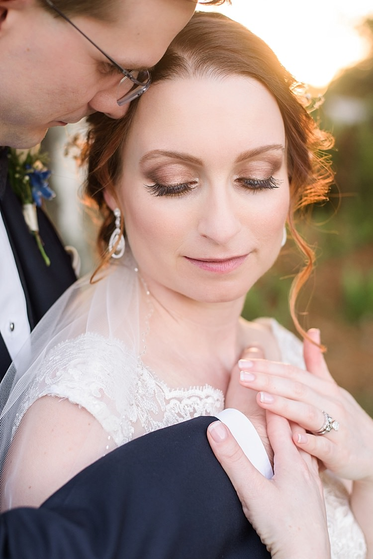 Bride Groom Close Up Romantic Twinkling Garden Wedding http://sarahben.com/