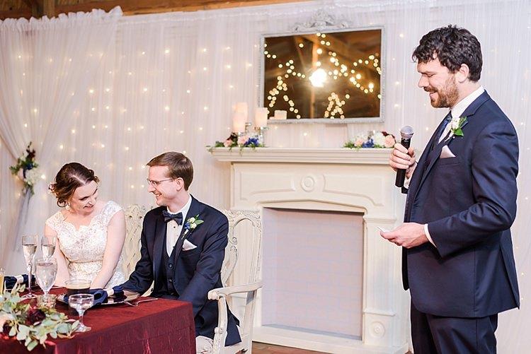 Speeches Bride Groom Best Man Romantic Twinkling Garden Wedding http://sarahben.com/