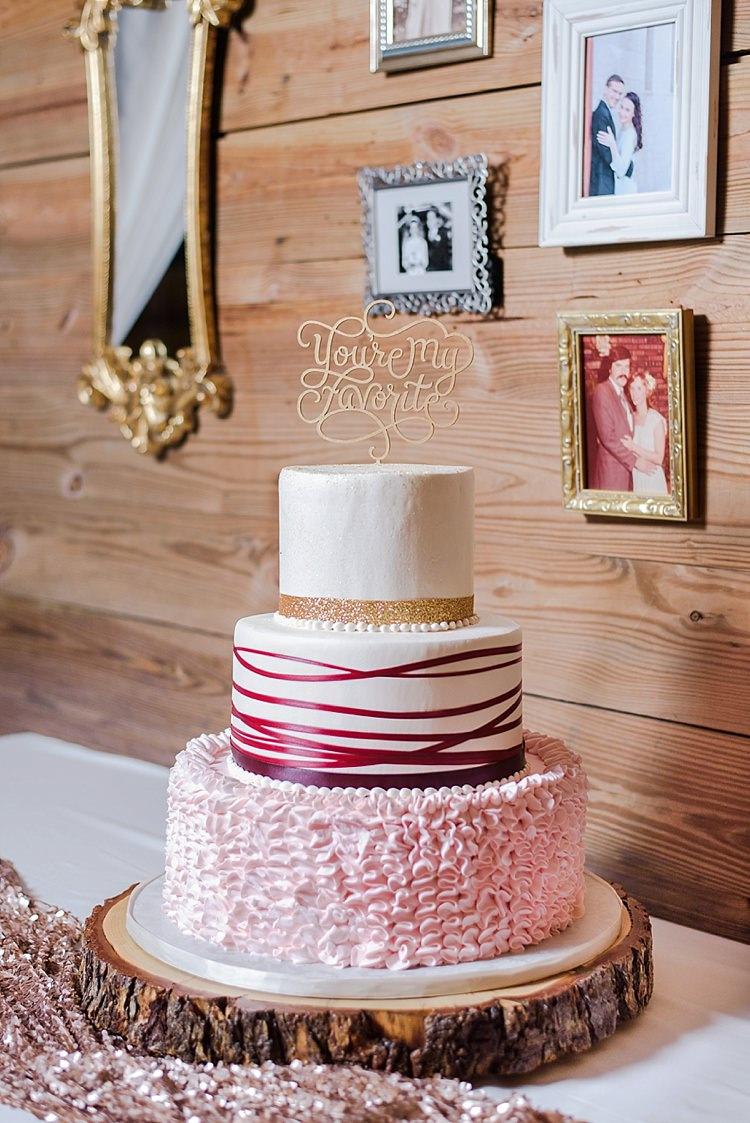 Cake Pink Topper Romantic Twinkling Garden Wedding http://sarahben.com/