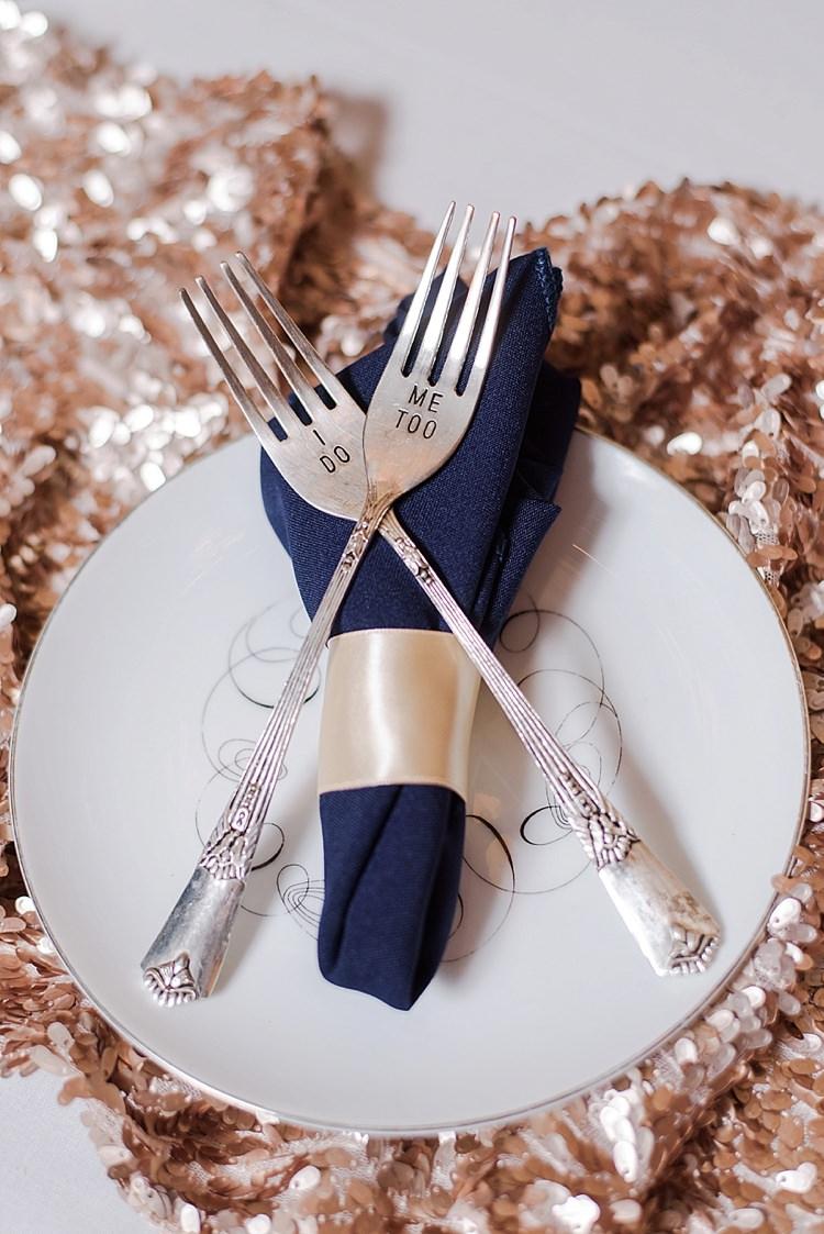 I Do Forks Cutlery Romantic Twinkling Garden Wedding http://sarahben.com/