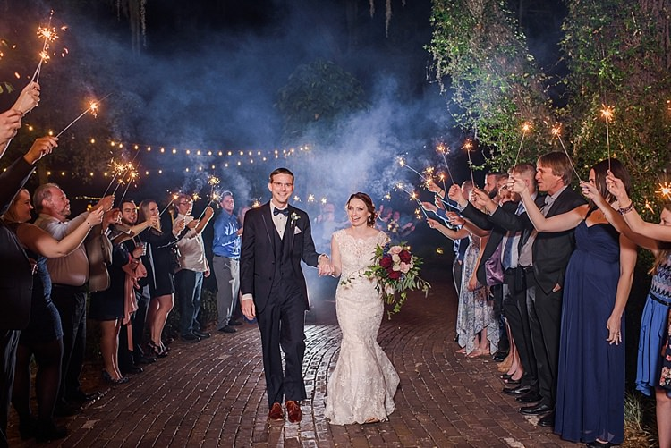 Sparklers Bride Groom Exit Romantic Twinkling Garden Wedding http://sarahben.com/
