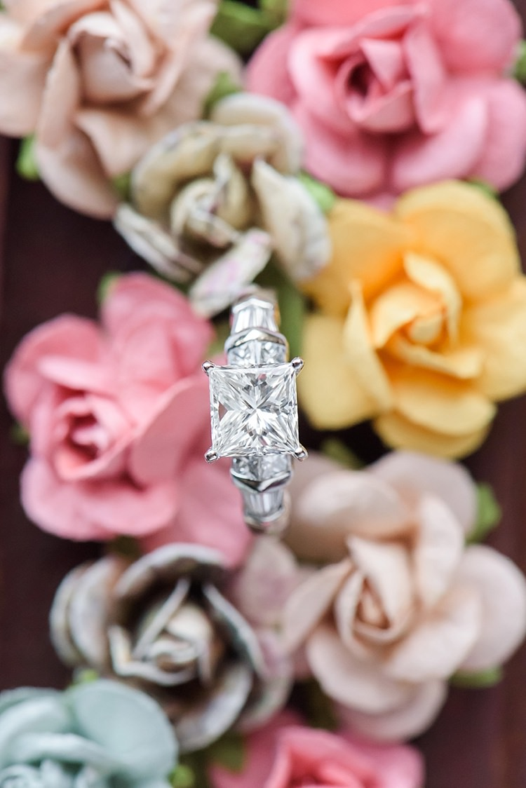 Engagement Ring Diamond Roses Romantic Twinkling Garden Wedding http://sarahben.com/
