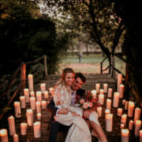 Autumn Inspiration Candles Outdoor Bride Bridal Groom