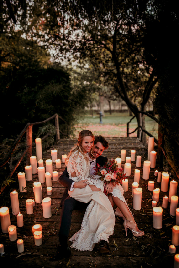 Autumn Inspiration Candles Outdoor Bride Bridal Groom http://www.nataliaibarra.com/