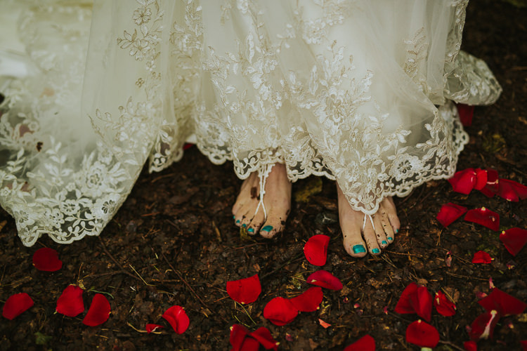 Bare Foot Bride Bridal Shoes Indie Forest Origami Cranes Wedding http://www.alittlepicture.com/