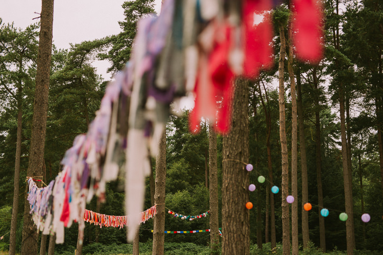 Rag Bunting Pom Poms Indie Forest Origami Cranes Wedding http://www.alittlepicture.com/
