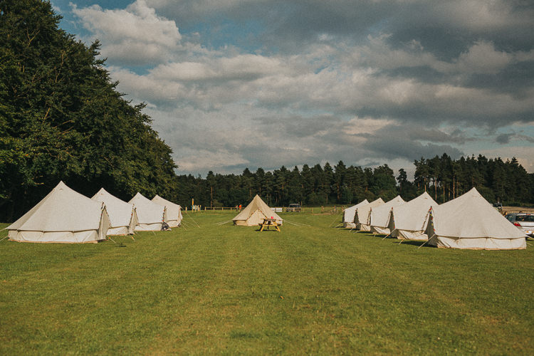 Glamping Bell Tents Indie Forest Origami Cranes Wedding http://www.alittlepicture.com/