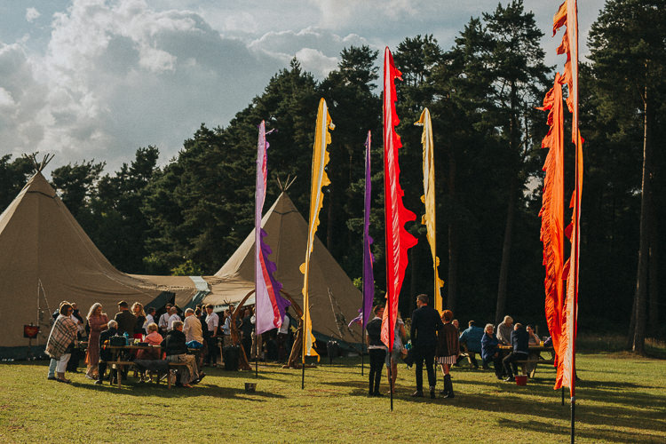 Festival Flags Indie Forest Origami Cranes Wedding http://www.alittlepicture.com/