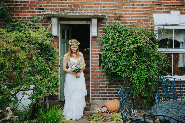 Lace Tier Dress Gown Bride Bridal Straps Ti Adora Ethereal Alternative Country Barn Wedding Dark Moody Sky http://joshuapatrickphotography.com/