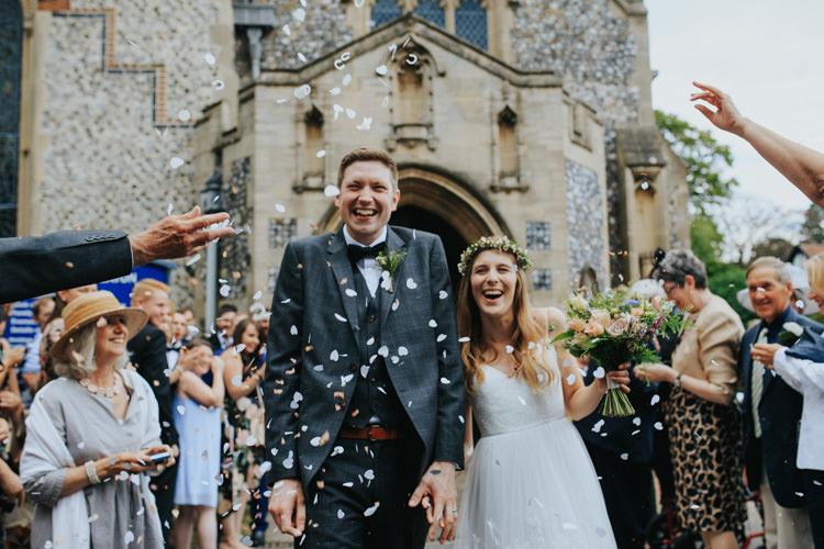 Confetti Throw Ethereal Alternative Country Barn Wedding Dark Moody Sky http://joshuapatrickphotography.com/