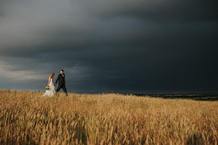 Ethereal Alternative Country Barn Wedding Dark Moody Sky http://joshuapatrickphotography.com/