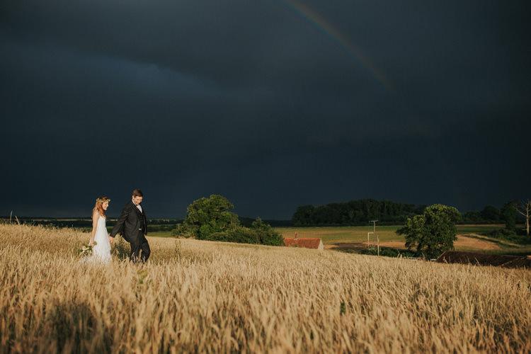 Rainbow Ethereal Alternative Country Barn Wedding Dark Moody Sky http://joshuapatrickphotography.com/