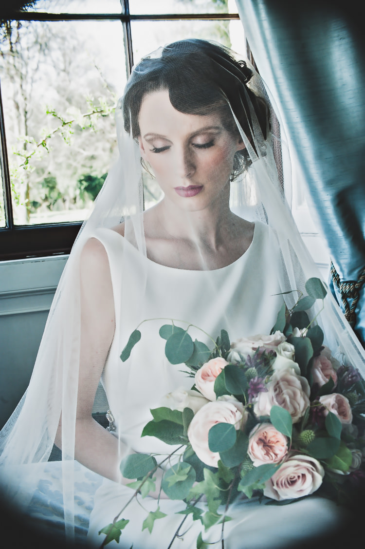 Veil Bride Bridal Blusher Accessory Thoroughly Modern Cecilia Atonement Glamorous 1940s Wedding Ideas http://ikonworks.co.uk/