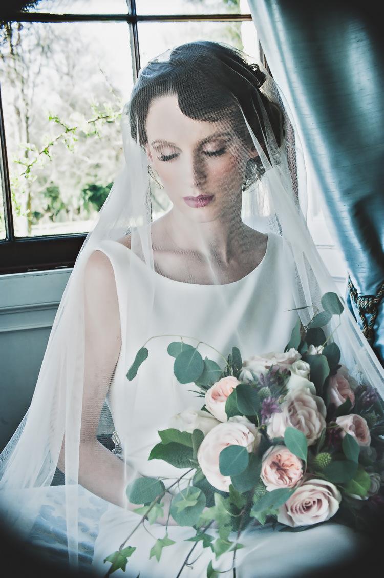 Veil Bride Bridal Blusher Accessory Thoroughly Modern Cecilia Atonement Glamorous 1940s Wedding Ideas http://ikonworks.co.uk/