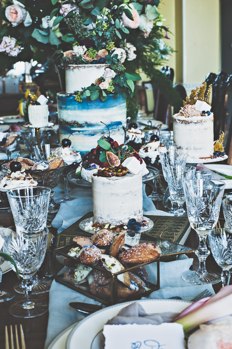 Cake Table Dessert Decadent Luxe Thoroughly Modern Cecilia Atonement Glamorous 1940s Wedding Ideas http://ikonworks.co.uk/