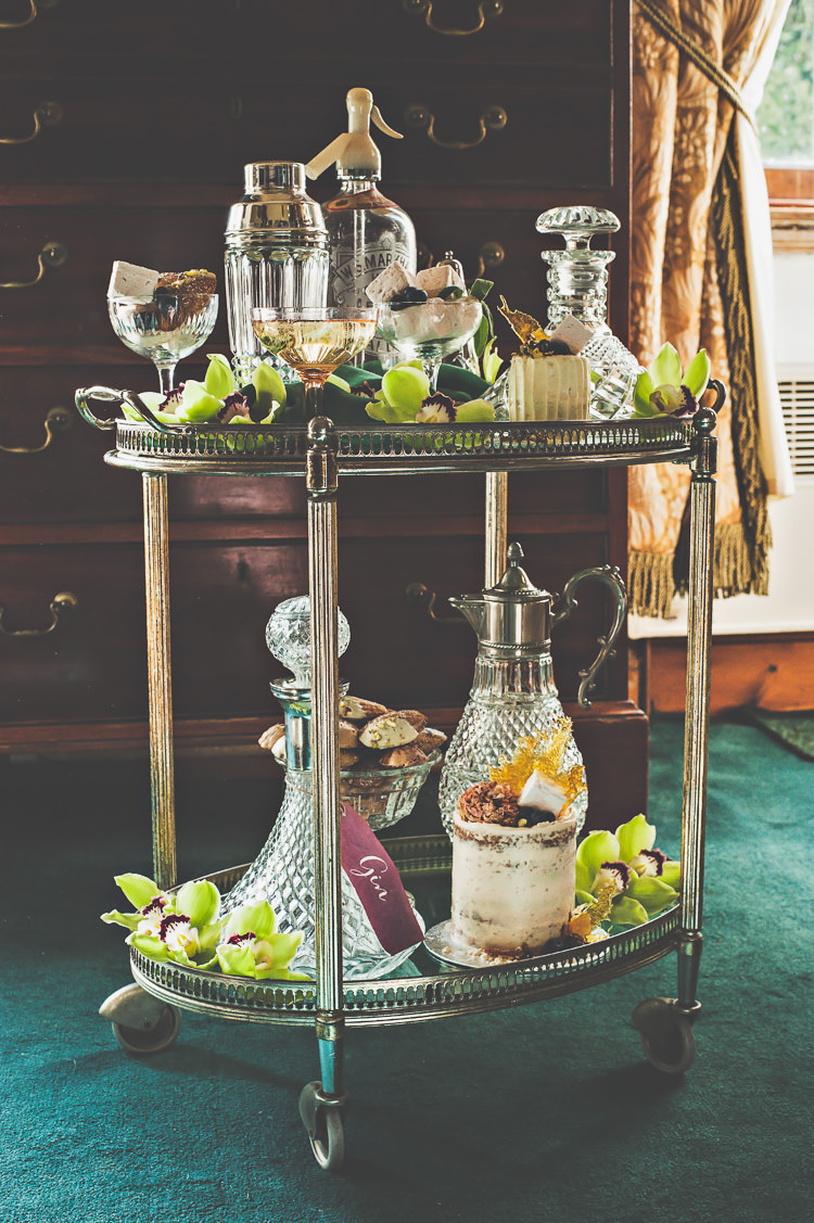 Drinks Trolley Cocktails Thoroughly Modern Cecilia Atonement Glamorous 1940s Wedding Ideas http://ikonworks.co.uk/