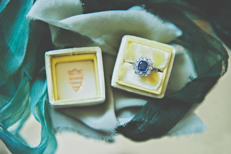 Ring Box Vintage Sapphire Engagement Ring Thoroughly Modern Cecilia Atonement Glamorous 1940s Wedding Ideas http://ikonworks.co.uk/