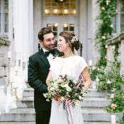 Modern Elegance Marble Greenery & Gold Wedding Ideas