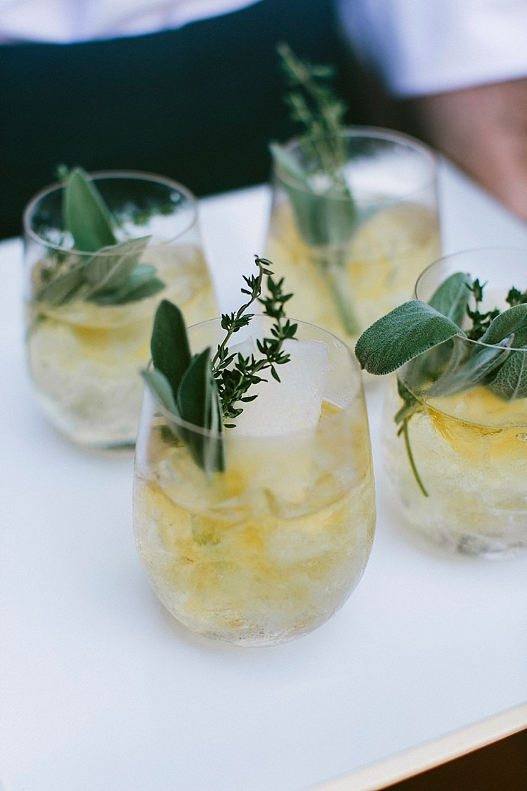 Cocktails Greenery Lemon Modern Elegance Marble Greenery Gold Wedding Ideas http://www.jettwalkerphotography.com/