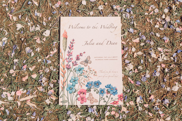 Invitation Floral Wildflower Relaxed Outdoor Marquee Farm Wedding http://www.jenniferjanephotography.co.uk/