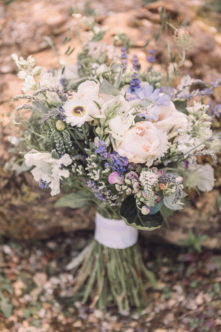 Bride Bridal Bouquet Wildflower Lavender Blousy Foliage Relaxed Outdoor Marquee Farm Wedding http://www.jenniferjanephotography.co.uk/
