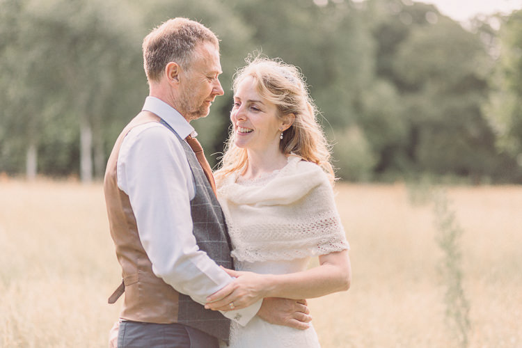 Kate Walker Bride Bridal Dress Gown Veil Moss Bros Groom Tweed Three Piece Waistcoat Woollen Shrug Relaxed Outdoor Marquee Farm Wedding http://www.jenniferjanephotography.co.uk/