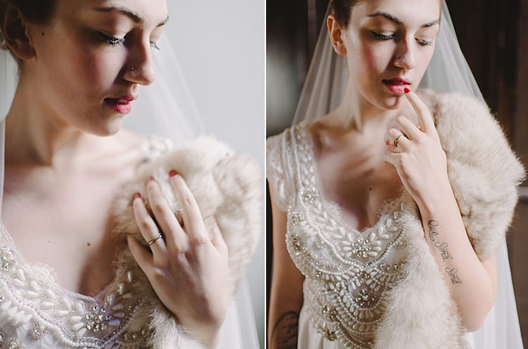 Bride Fur Moody Edwardian Winter Wedding Inspiration http://landmhewitt.com/