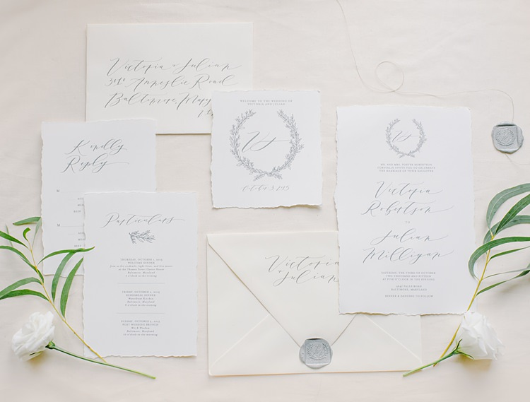 Stationery Calligraphy Moody Edwardian Winter Wedding Inspiration http://landmhewitt.com/