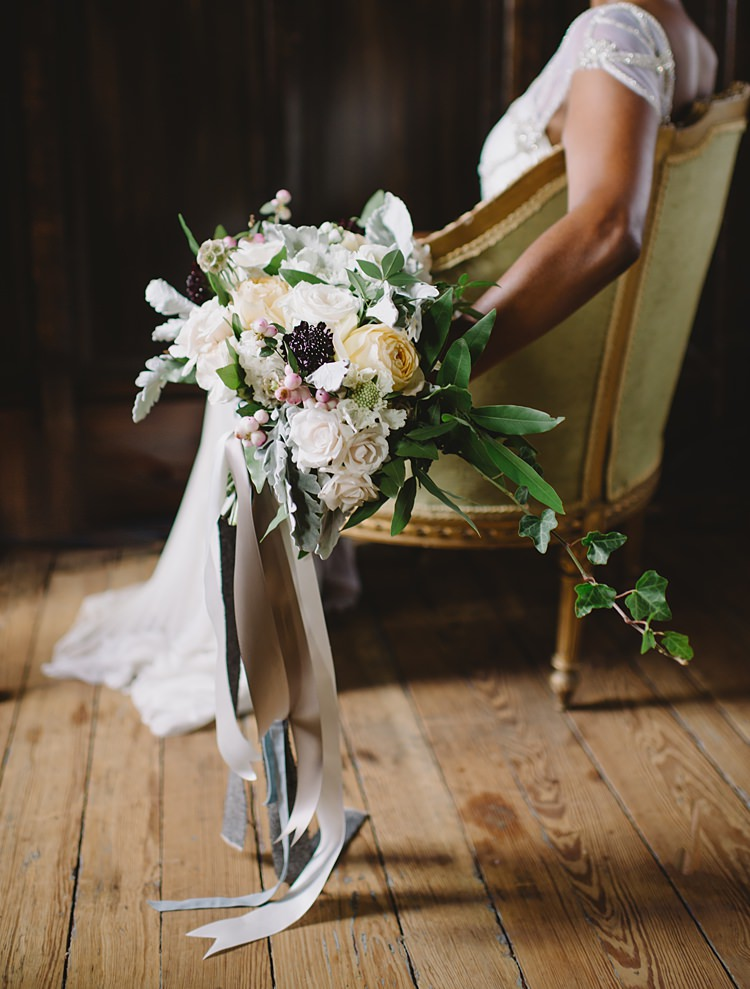 Bouquet Berries Moody Edwardian Winter Wedding Inspiration http://landmhewitt.com/