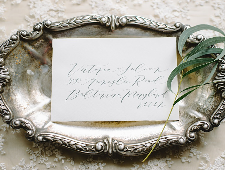 Calligraphy Moody Edwardian Winter Wedding Inspiration http://landmhewitt.com/
