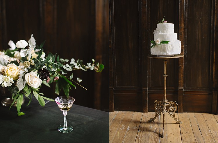 Bouquet Berries Cake Stand Bouquet Moody Edwardian Winter Wedding Inspiration http://landmhewitt.com/