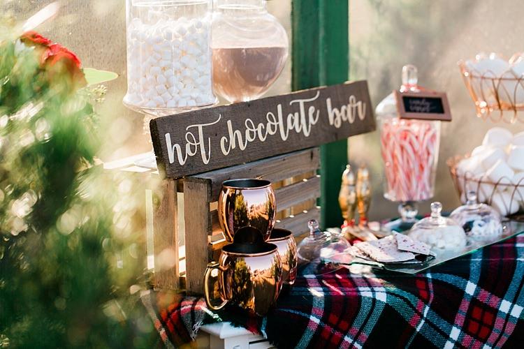 Autumn Inspiration Hot Chocolate Bar Tartan http://loriblythe.com/