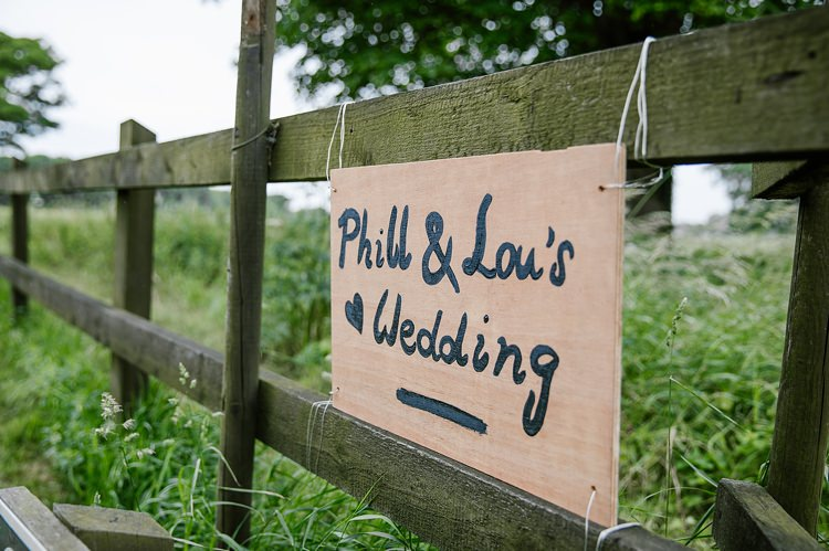 Wooden Sign Painted Graceful Country Cottage Garden Wedding https://katherineashdown.co.uk/