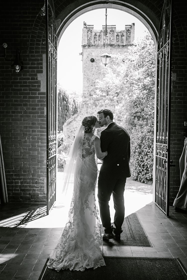 Lace Dress Gown Train Bride Bridal Veil Graceful Country Cottage Garden Wedding https://katherineashdown.co.uk/