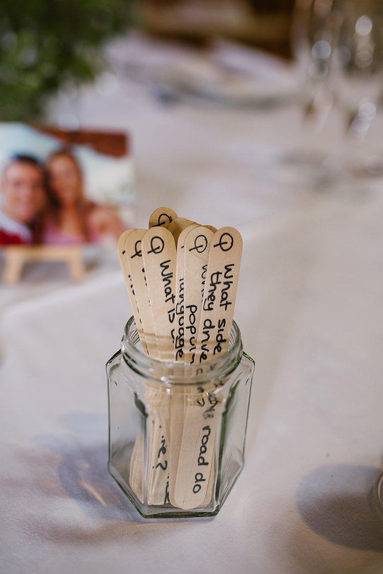 Lolly Stick Quiz Game Ice Breaker Graceful Country Cottage Garden Wedding https://katherineashdown.co.uk/