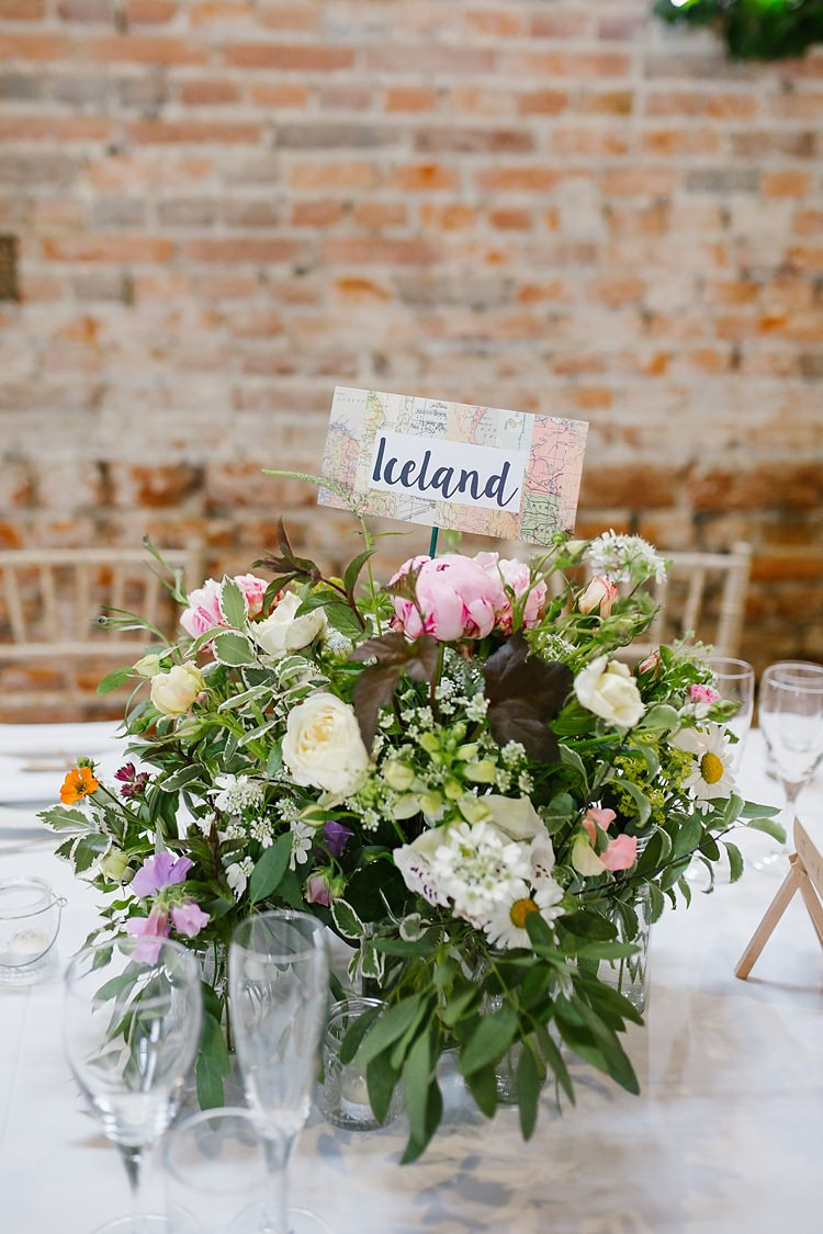 Table Flowers Centrepiece Peony Rose Graceful Country Cottage Garden Wedding https://katherineashdown.co.uk/