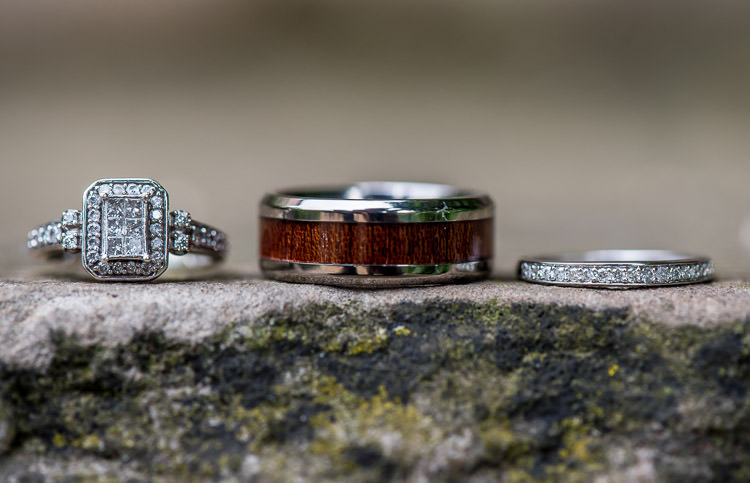 Rings Diamond Engagement Halo Wooden Band Quirky Natural Outdoor Festival Wedding http://lighteningphotography.co.uk/