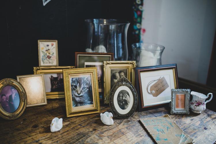 Photograph Table Frames Quaint Floral Antique Rustic Wedding http://www.larissajoice.co.uk/