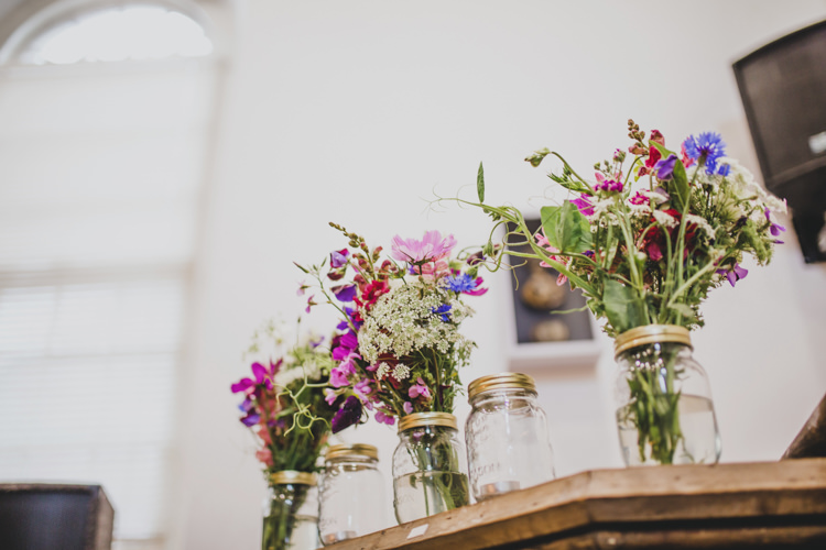 Jars Wild Flowers Decor Quaint Floral Antique Rustic Wedding http://www.larissajoice.co.uk/