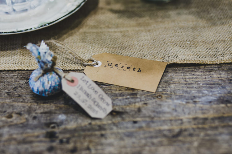Seed Favours Bombs Bags Luggage Tag Quaint Floral Antique Rustic Wedding http://www.larissajoice.co.uk/