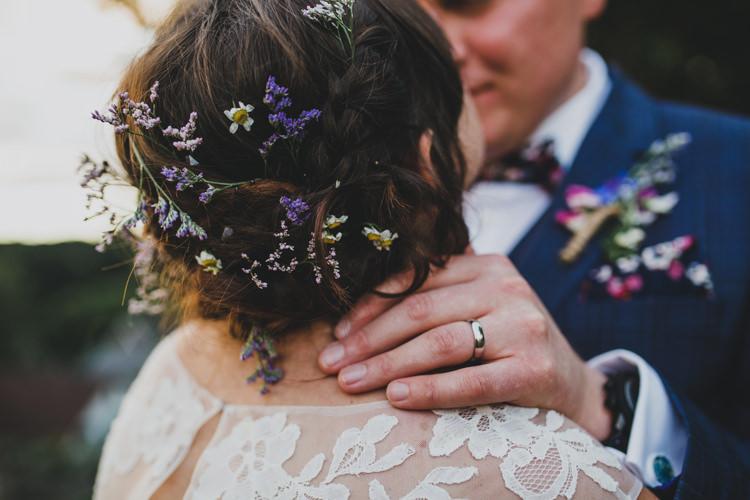 Bride Bridal Hair Up Do Flowers Quaint Floral Antique Rustic Wedding http://www.larissajoice.co.uk/