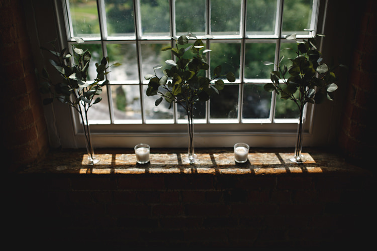 Foliage Vases Decor Industrial Rose Gold Dove Grey Greenery Wedding http://hbaphotography.com/