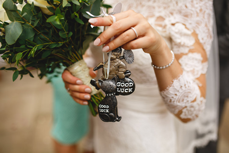 Good Luck Charms Bride Industrial Rose Gold Dove Grey Greenery Wedding http://hbaphotography.com/