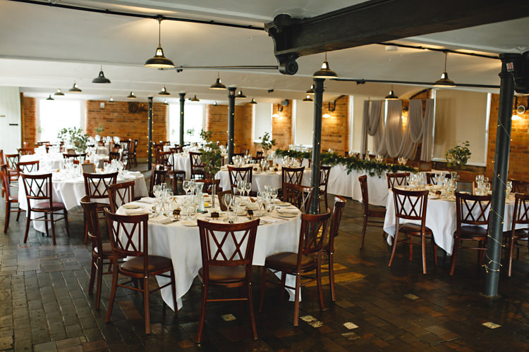 The West Mill Derbyshire Industrial Rose Gold Dove Grey Greenery Wedding http://hbaphotography.com/