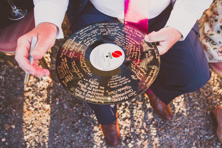Record Guest Book Woodland Farm Camp Wedding http://emmastonerweddings.com/