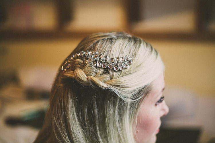 Hair Bride Bridal Accessory Braid Plait Woodland Farm Camp Wedding http://emmastonerweddings.com/