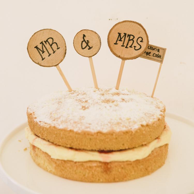Naked Cake Sponge Woodland Farm Camp Wedding http://emmastonerweddings.com/