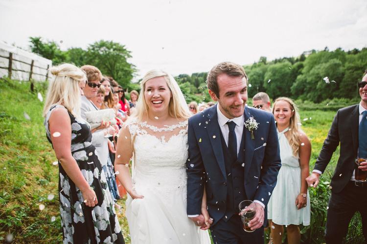 Confetti Throw Woodland Farm Camp Wedding http://emmastonerweddings.com/